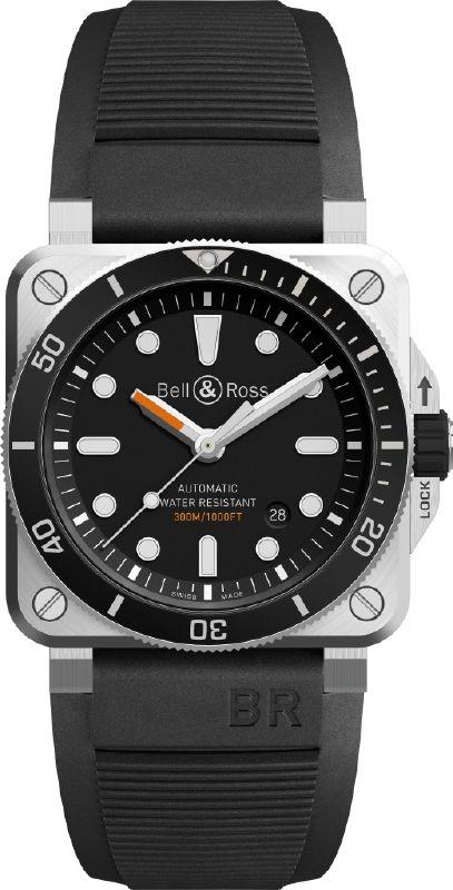 Bell & Ross ساعة الغوص المربعة والاحترافية