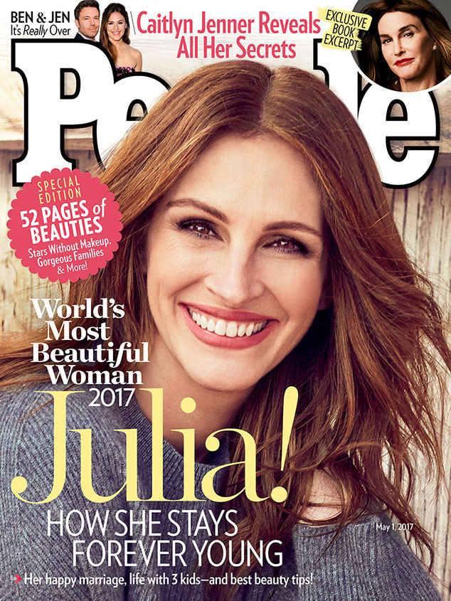 للمرة الخامسة بيبول تختار جوليا روبرتس لتفوز بلقب المرأة الأجمل في العالم