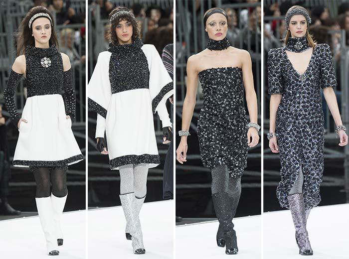 مجموعة شانيل وأزياءه المستقبلية المميزة