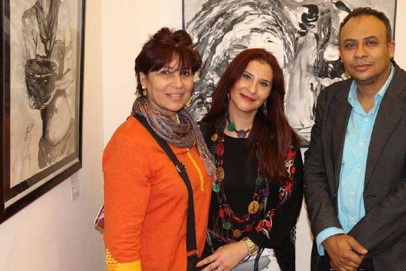 معرض الفنانة هبة الشريف شهد حضور العديد من الفنانين والاعلاميين