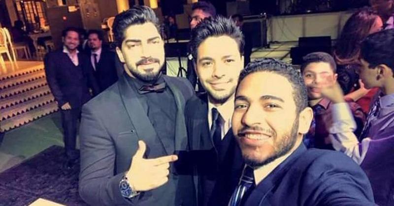 مينا عكا مع احمد جمال من زفاف كارمن سليمان