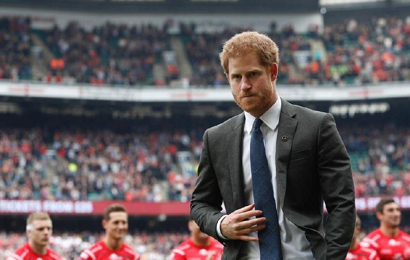 الأمير هاري حضر مباراة الركبي السنوية