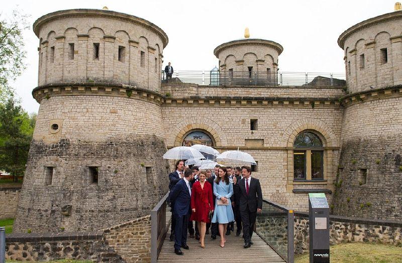 كيت ميدلتون أنهت زيارة لوكسمبورغ بزيارة متحف دراي إيشيلين