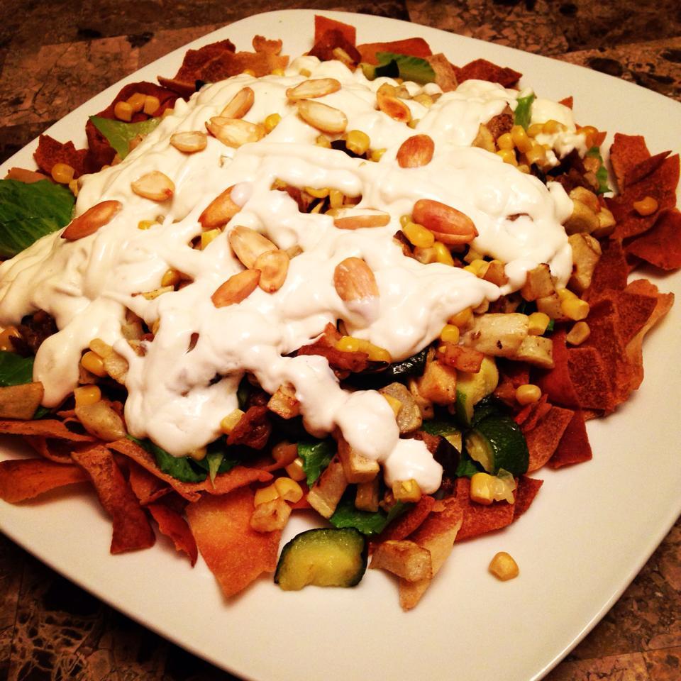 اكلات سريعة لفطور رمضان طريقة تحضير فتة الباذنجان