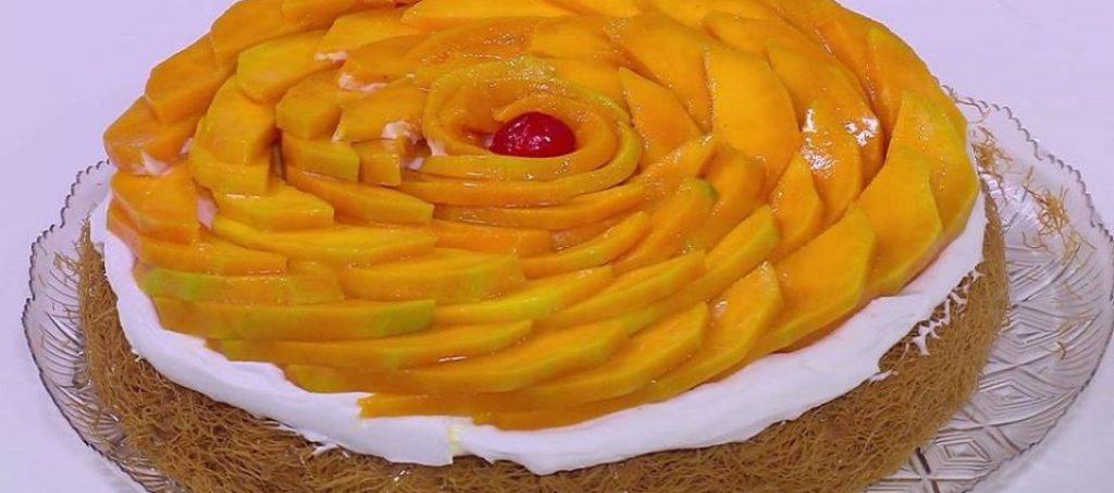 حلويات رمضان طريقة اعداد كنافة بالمانجو والكريمة