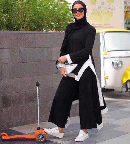 البنطلون الواسع مع الحجاب اخر صيحات الموضة في عيد الفطر