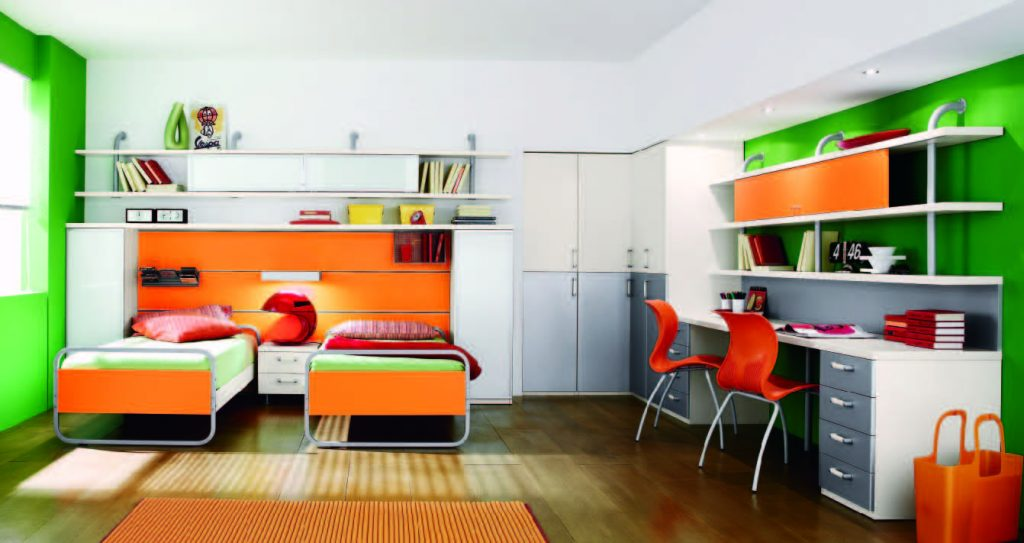 Citris-Colored-bed-room-for-Teens