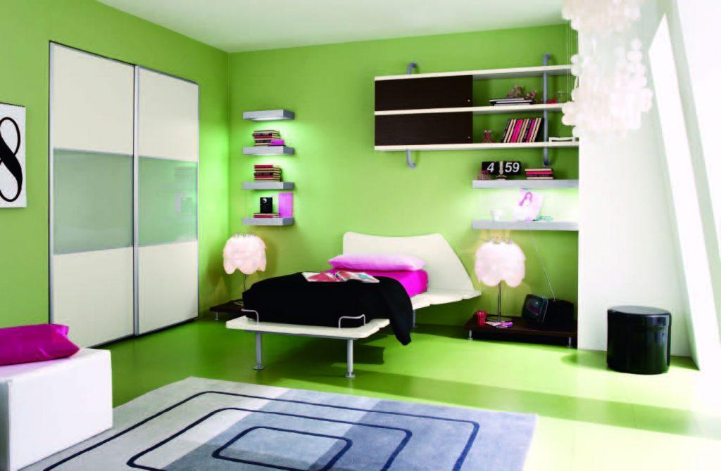 احدث-ديكورات-غرف-نوم-انيقة-ومميزة-باللون-الاخضر- (1)