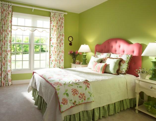 احدث-ديكورات-غرف-نوم-انيقة-ومميزة-باللون-الاخضر- (13)