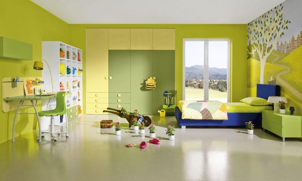 احدث-ديكورات-غرف-نوم-انيقة-ومميزة-باللون-الاخضر- (2)