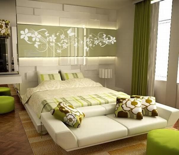 احدث-ديكورات-غرف-نوم-انيقة-ومميزة-باللون-الاخضر- (3)
