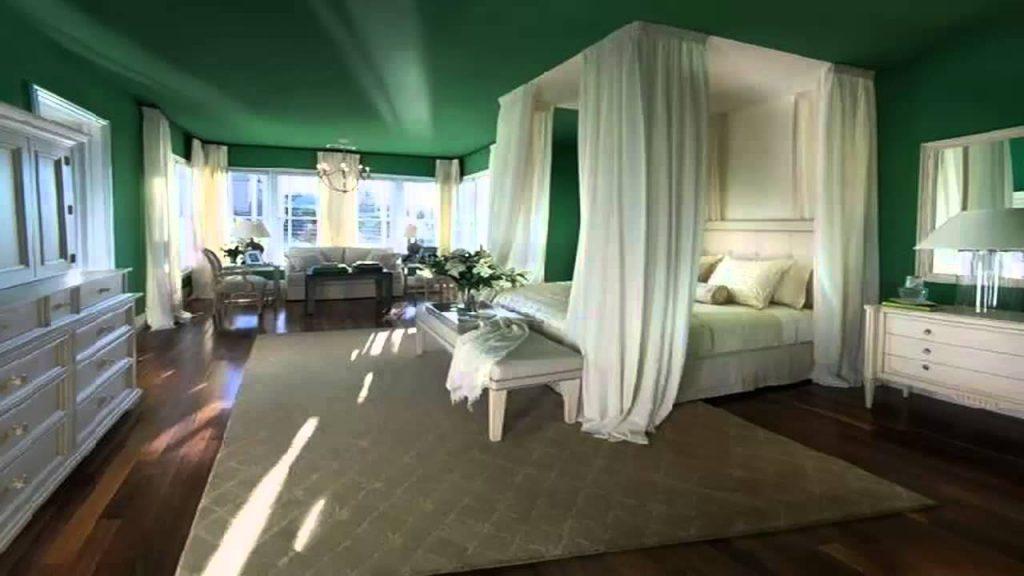 احدث-ديكورات-غرف-نوم-انيقة-ومميزة-باللون-الاخضر- (4)