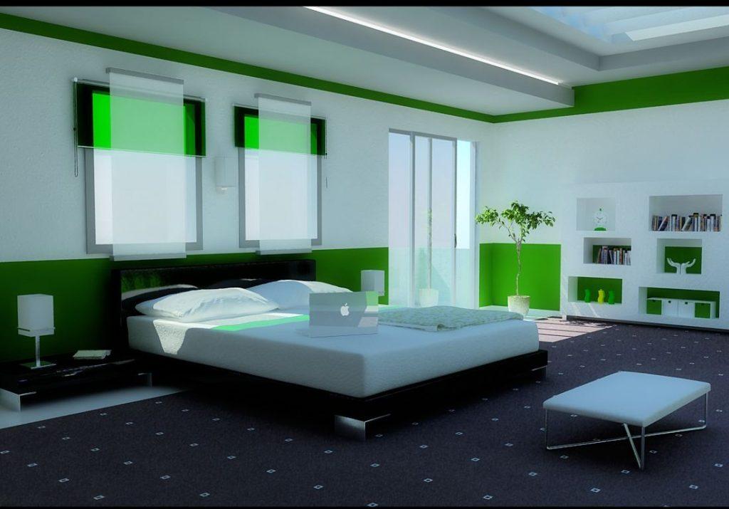 احدث-ديكورات-غرف-نوم-انيقة-ومميزة-باللون-الاخضر- (5)
