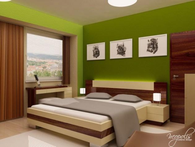احدث-ديكورات-غرف-نوم-انيقة-ومميزة-باللون-الاخضر- (8)