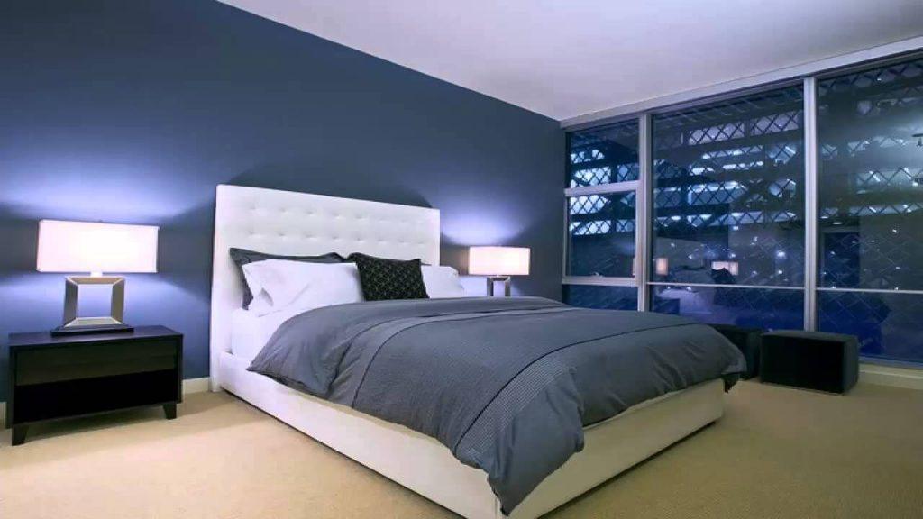 افكار تصاميم غرف نوم شباب باللون الازرق والرمادي   مشاهير
