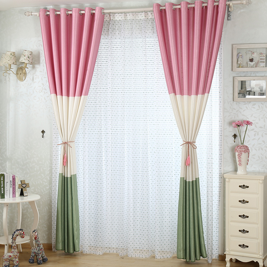 جديد-مودر-مختلط-لون-الستائر-للأطفال-ستائر-النافذة-الستائر-لغرفة-النوم-غرفة-المعيشة-الفاخرة-الوردي-تول