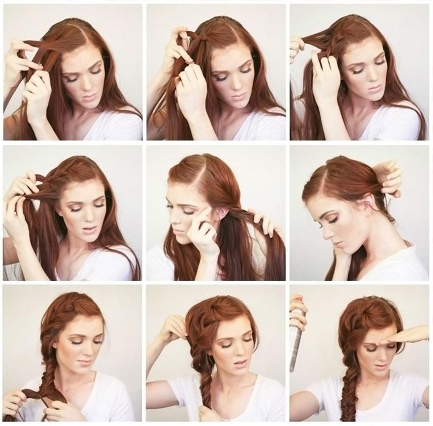 خطوات عمل ضفيرة الشعر