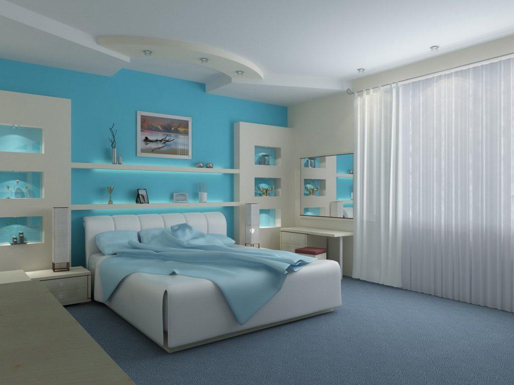 غرفة-نوم-بنات-بسيطة-باللون-الازرق