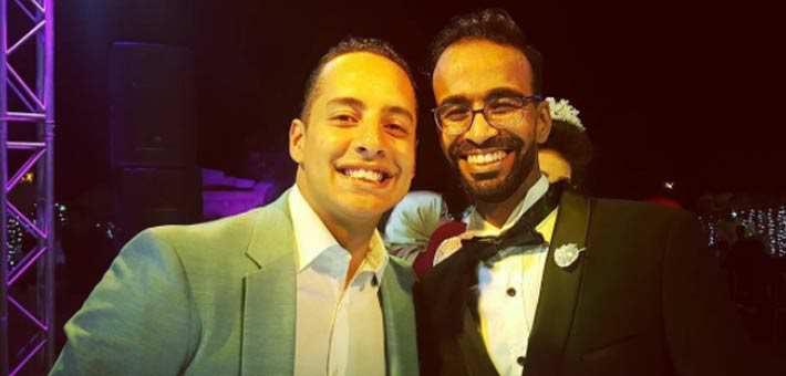 محمود الليثي مع أحد أصدقائه