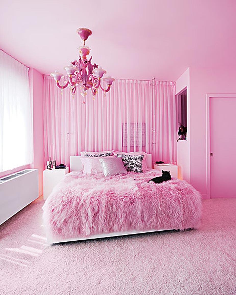 ديكورات غرف نوم باللون الوردي لعروس ٢٠١٧   مشاهير