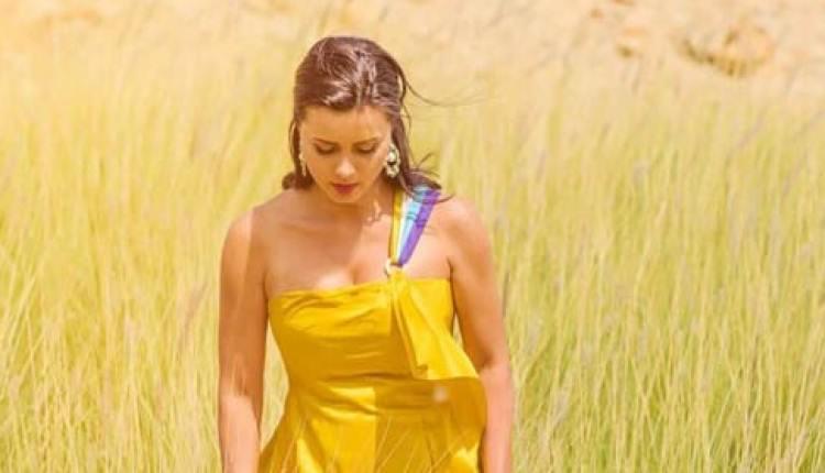 فستان-أصفر-قصير
