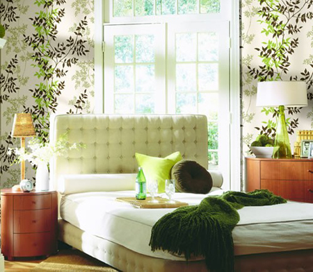 افكار-ديكورات-غرف-نوم-بنات-من-ورق-الحائط- (1)