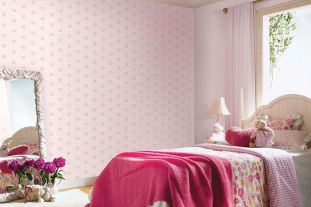 افكار-ديكورات-غرف-نوم-بنات-من-ورق-الحائط- (14)