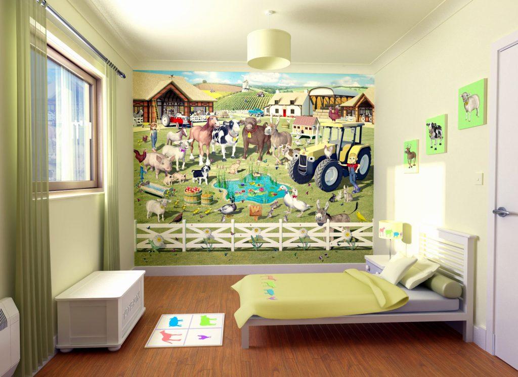 افكار-ديكورات-غرف-نوم-بنات-من-ورق-الحائط- (27)