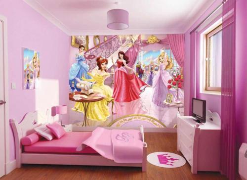 افكار-ديكورات-غرف-نوم-بنات-من-ورق-الحائط- (5)