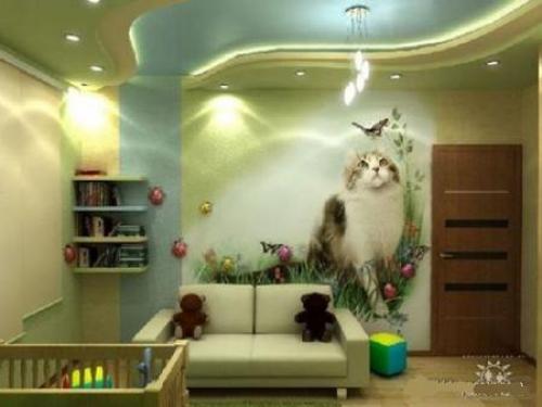 افكار-ديكورات-غرف-نوم-بنات-من-ورق-الحائط- (6)