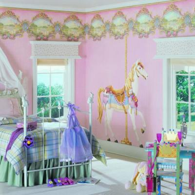 افكار-ديكورات-غرف-نوم-بنات-من-ورق-الحائط- (9)