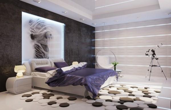 الوان السجاد المودرن المناسب مع ديكورات غرف النوم   مشاهير