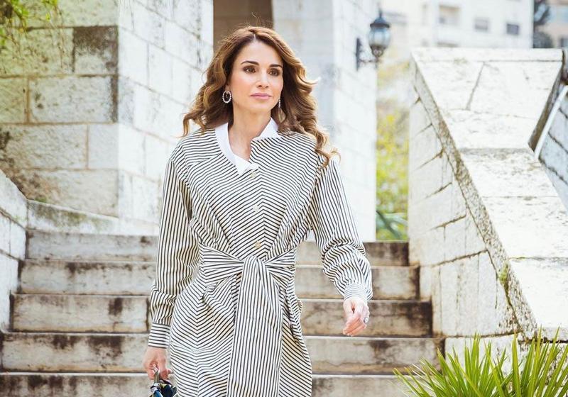 32632af06c97c بالصور اجمل ازياء الملكة رانيا العبدالله بمناسبة عيد مولدها - مشاهير