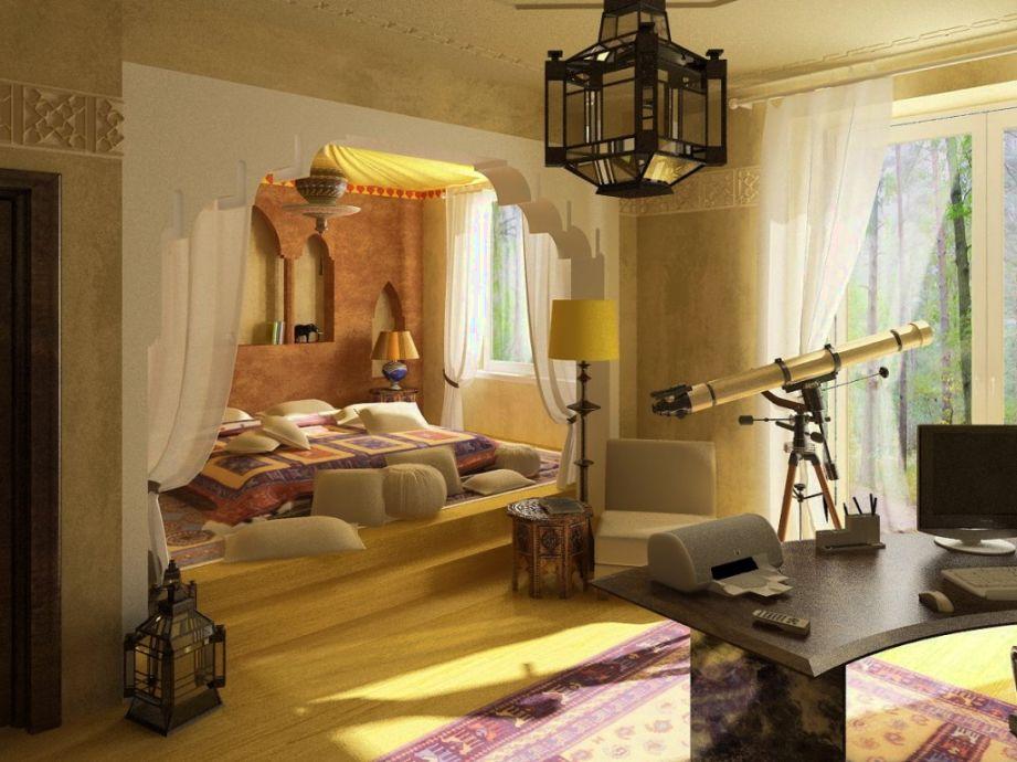 ديكورات-غرف-نوم-حديثة-بستايل-مغربي- (12)