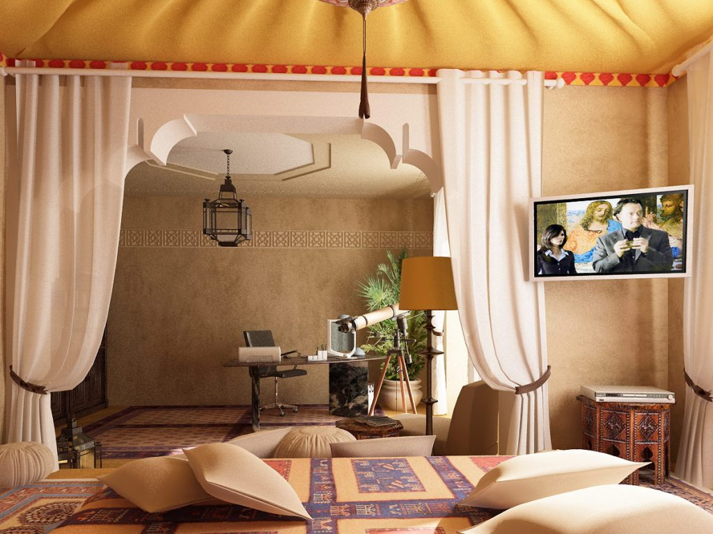 ديكورات-غرف-نوم-حديثة-بستايل-مغربي- (8)
