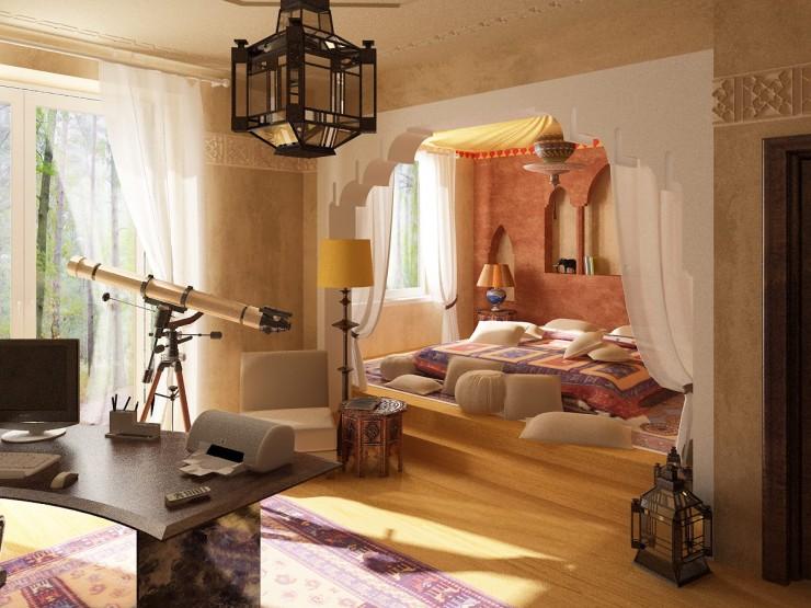 ديكورات-غرف-نوم-حديثة-بستايل-مغربي- (9)