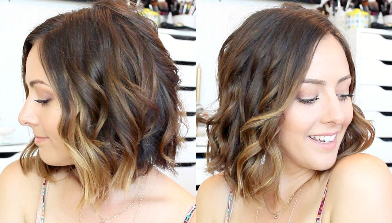شعر قصير مموج