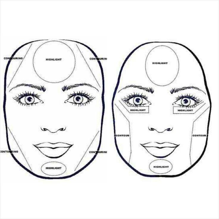 شكل الوجه المربع في المكياج