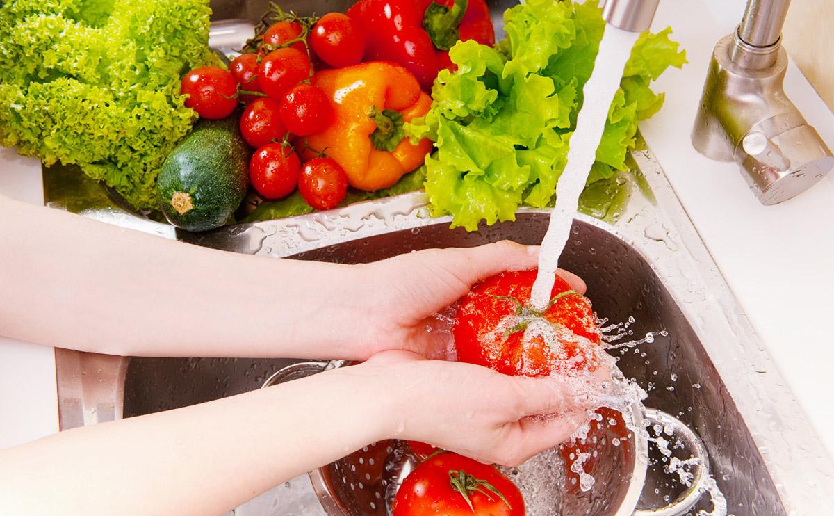 نصائح للتخلص من البكتيريا على الخضروات والفواكة