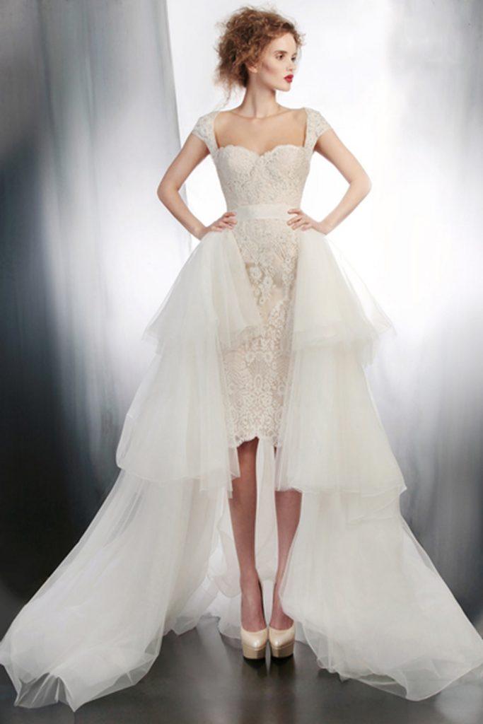 فساتين-زفاف-قصيرة-بيضاء