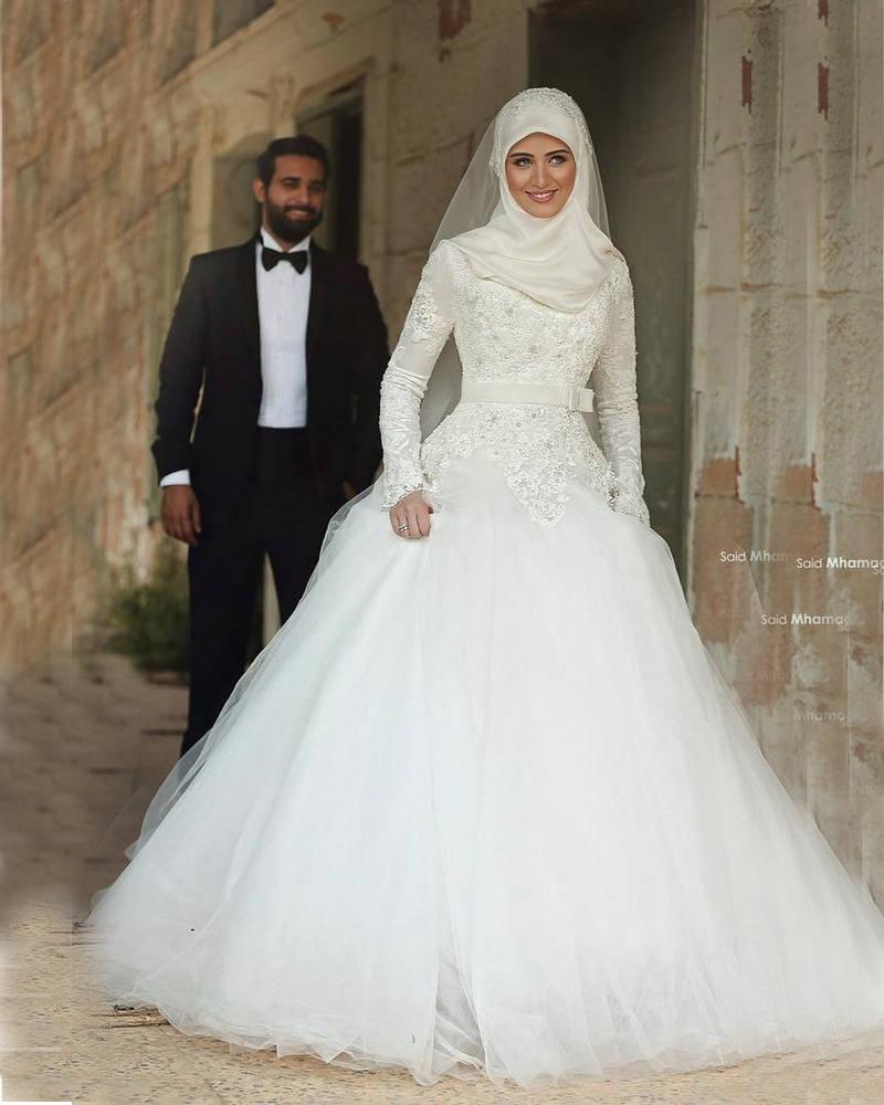 فساتين-زفاف-محجبات
