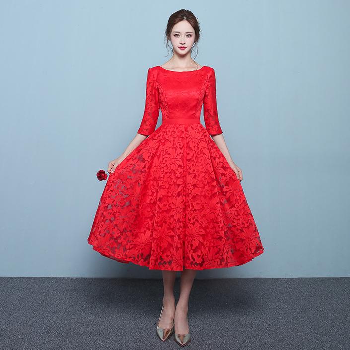 فستان-خطوبة-احمر-قصير