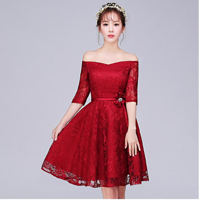 فستان-خطوبة-احمر