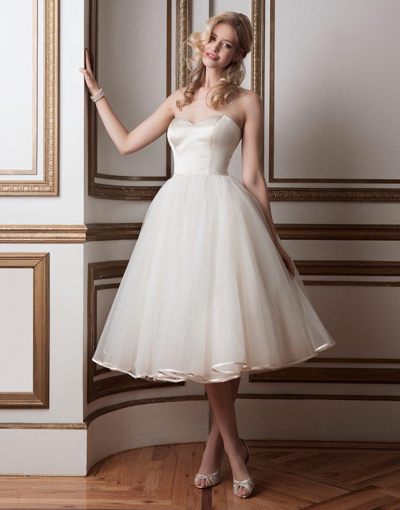 فستان-عروس-ابيض-قصير