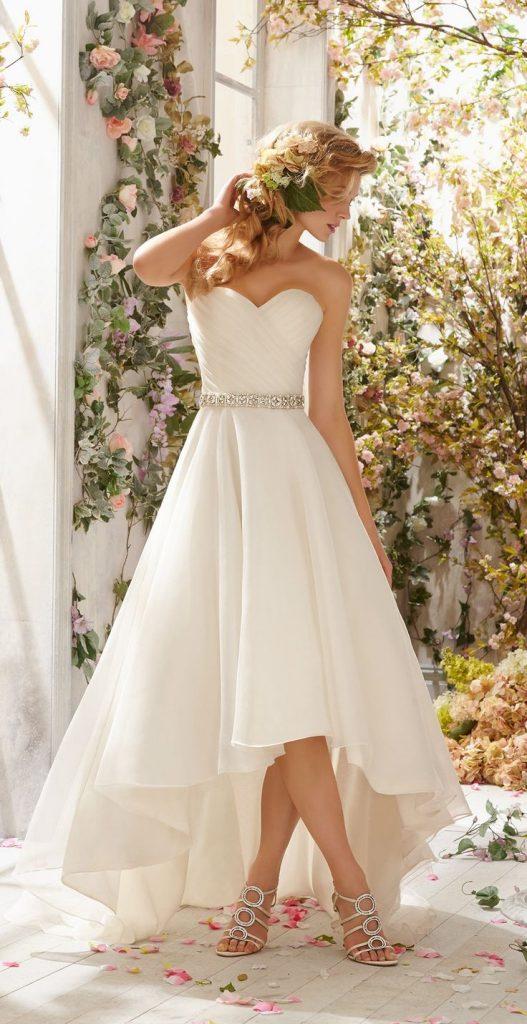 فستان-قصير-ابيض-للعروس