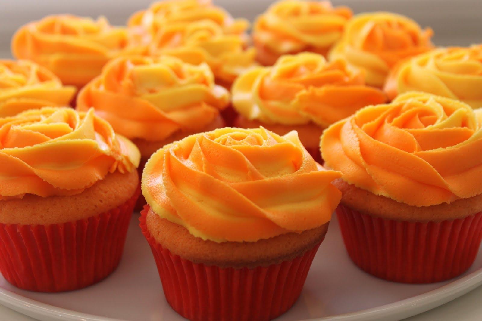 وصفة كب كيك البرتقال