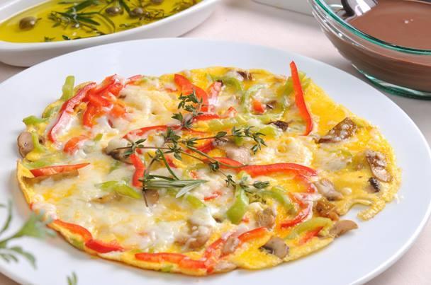 طريقة عمل بيض بالبروكلي والجبن الفيتا للدايت