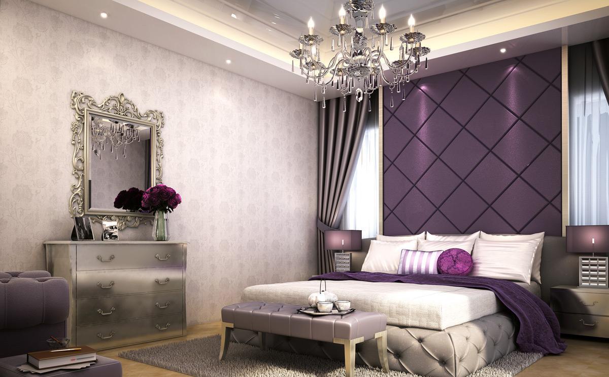 25 Bedroom Design Ideas For Your Home: الوان غرف النوم الحديثة باطلالة حيوية وجريئة 2018