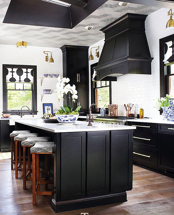 Black And White Kitchen Cabinets Pictures: صور احدث ديكورات مطابخ مودرن 2018