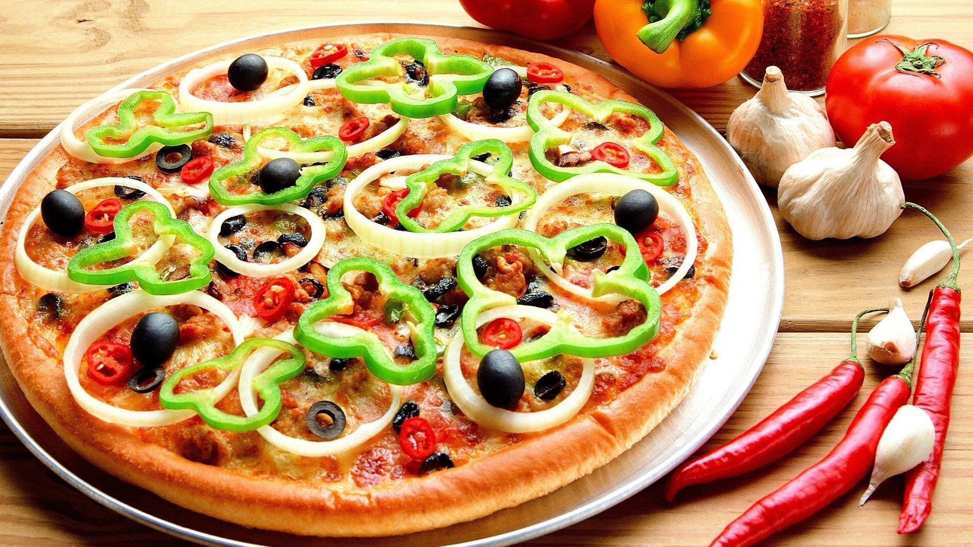 طريقة بيتزا الخضار والجبن